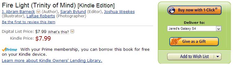 Amazon eBook Gift Button